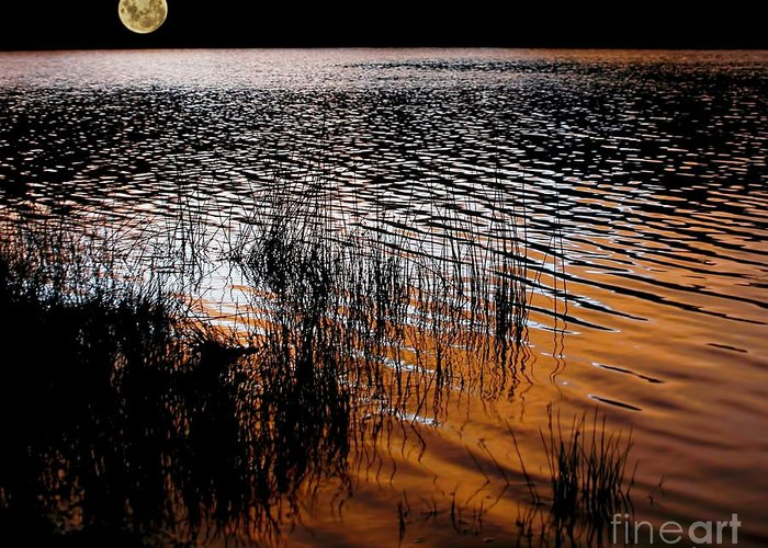 Photography Greeting Card featuring the photograph Moonrise After Sunset by Kaye Menner