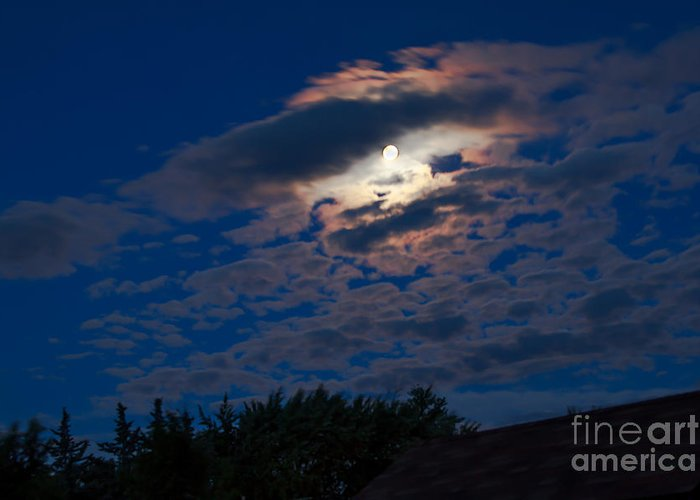 Moon Greeting Card featuring the photograph Moonscape by Robert Bales