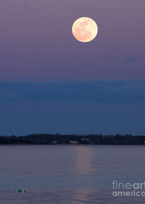 Moonrise Greeting Card featuring the photograph Moonshine by Joe Geraci