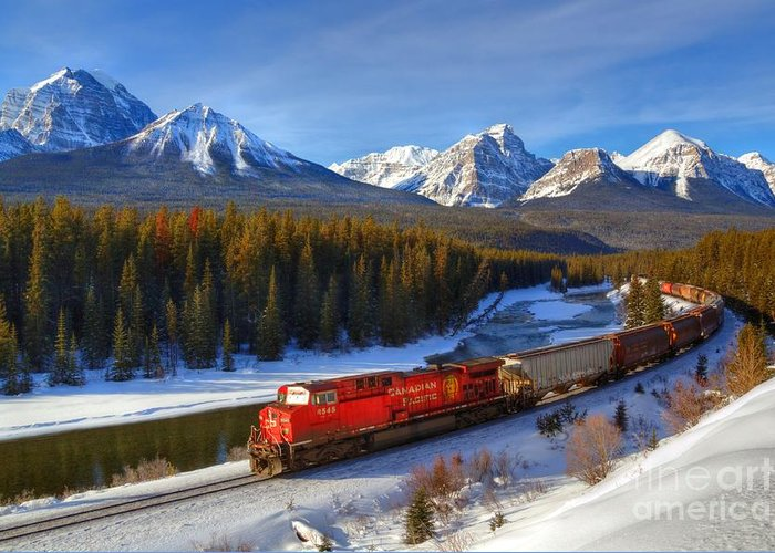 Cp Rail Greeting Card featuring the photograph Morant's Curve by James Anderson