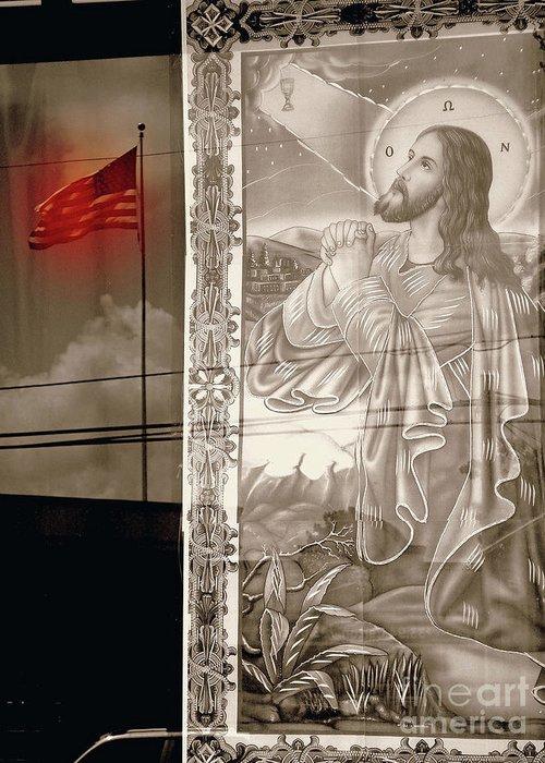 Jesus Praying Print Greeting Card featuring the photograph More Prayers For The Nation by Joe Jake Pratt