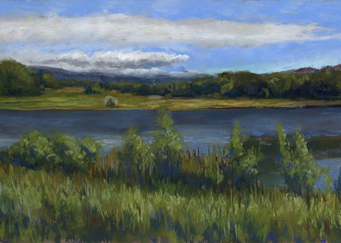 Morey Wildlife Reserve Greeting Card featuring the painting Morey Wildlife Park by Billie Colson