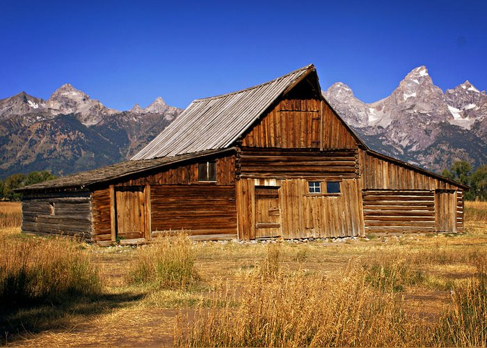 Grand Teton Greeting Card featuring the photograph Mormaon Barn 3 by Marty Koch