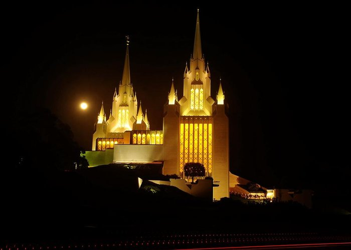 Mormon Temple Greeting Card featuring the photograph Mormon Temple by Nian Chen