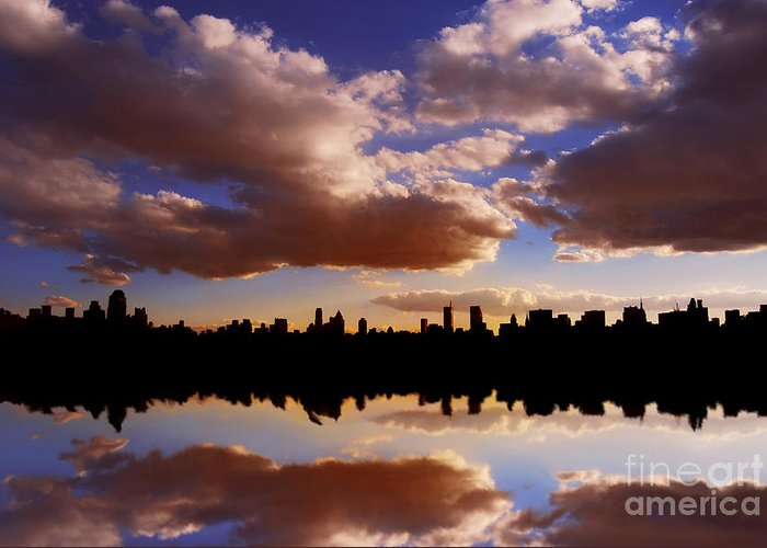 New York City Greeting Card featuring the photograph Morning At The Reservoir New York City Usa by Sabine Jacobs