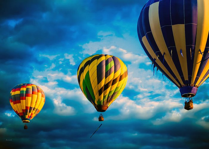 Hot Air Balloon Greeting Card featuring the photograph Morning Flight Hot Air Balloons by Bob Orsillo