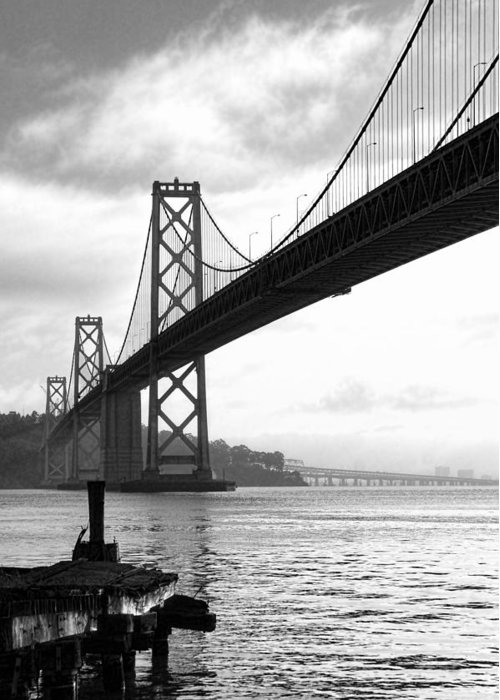San Francisco Greeting Card featuring the photograph Morning In San Francisco Bw by Jenny Hudson