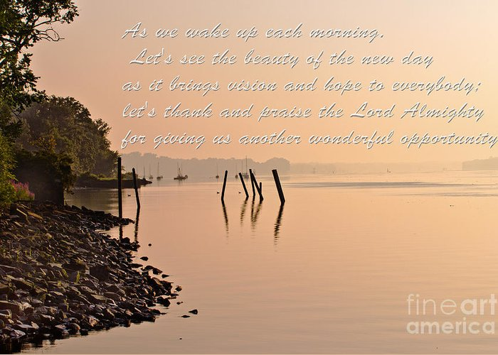 Nature Greeting Card featuring the photograph Morning Inspiration by Tom Gari Gallery-Three-Photography