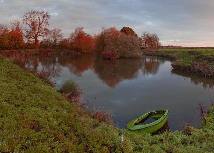 Lenton Greeting Card featuring the photograph Morning Light Lenton Fishing Pond by Nick Atkin