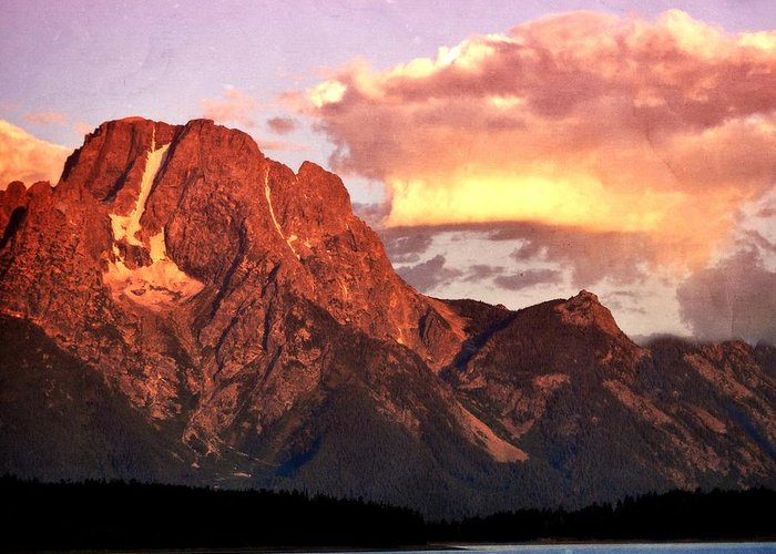 Sunrise Greeting Card featuring the photograph Morning Light On The Tetons by Marty Koch