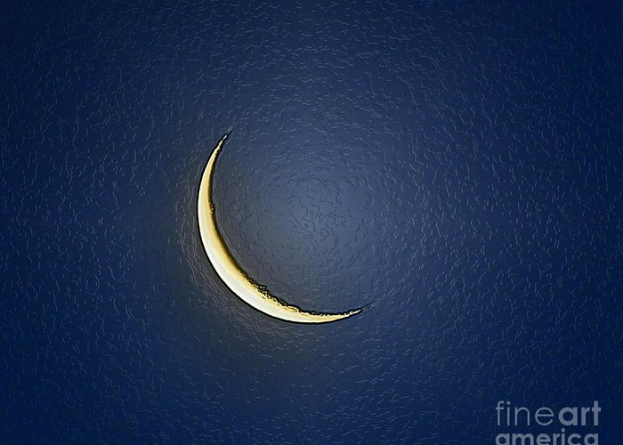 Moon Greeting Card featuring the photograph Morning Moon Textured by Al Powell Photography USA