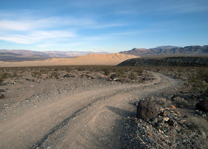Death Valley Greeting Card featuring the photograph Morning On Steele Pass by Joe Schofield