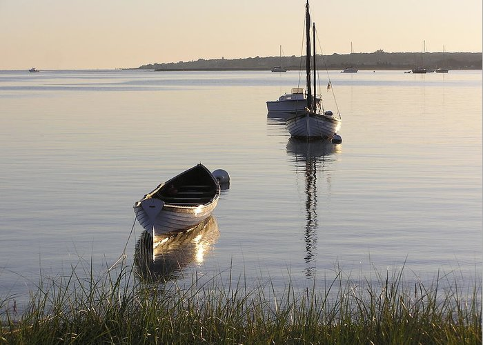 Sea Greeting Card featuring the photograph Morning Reflections by Richard Mansfield