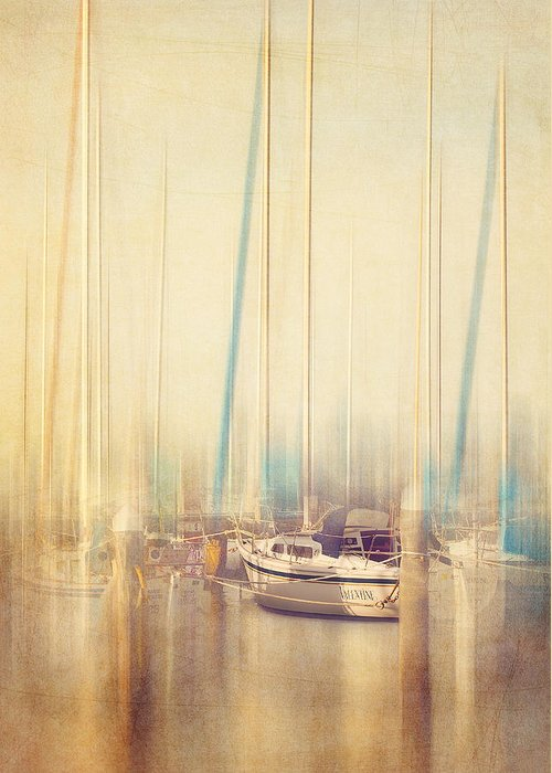 Boat Greeting Card featuring the photograph Morning Sail by Amy Weiss