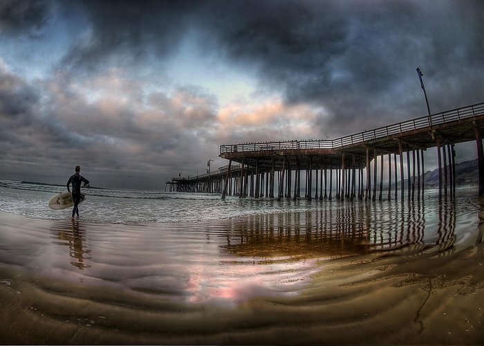Pismo Beach Greeting Card featuring the photograph Morning Session In Pismo by Sean Foster