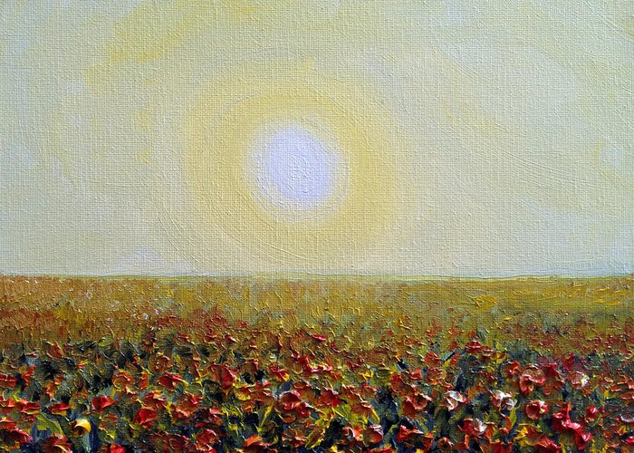 Sun Greeting Card featuring the painting Morning Sunshine Three by Deb Wolf