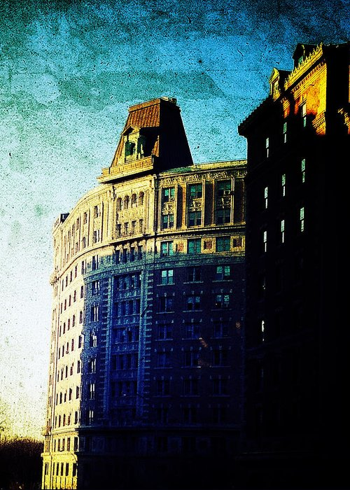 Nyc Greeting Card featuring the photograph Morningside Heights Blue by Natasha Marco
