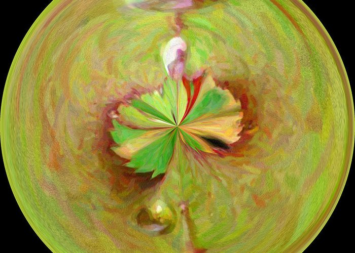 Greeting Card featuring the photograph Morphed Art Globe 21 by Rhonda Barrett