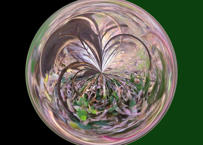 Wall Art Greeting Card featuring the photograph Morphed Art Globe 36 by Rhonda Barrett