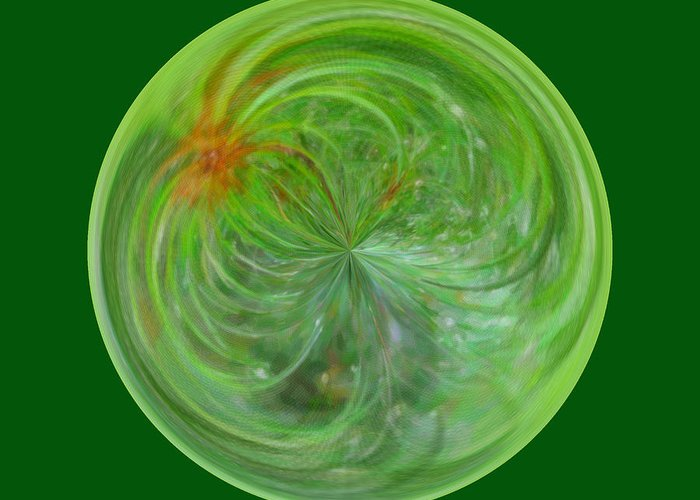 Photo Greeting Card featuring the photograph Morphed Art Globe 5 by Rhonda Barrett