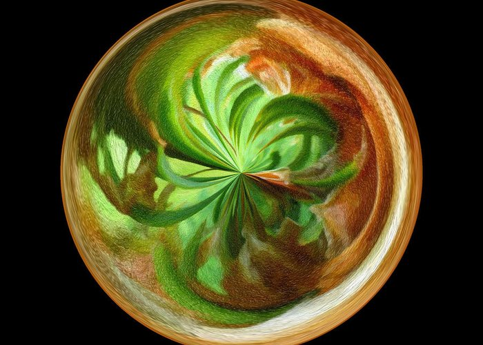 Wall Art Greeting Card featuring the photograph Morphed Art Globes 16 by Rhonda Barrett