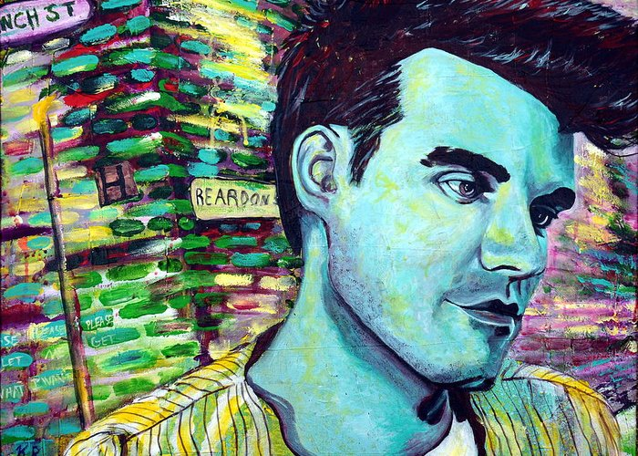 Morrissey Greeting Card featuring the painting Morrissey by Kat Richey
