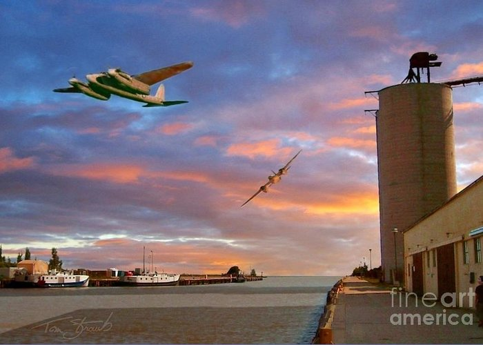 Ontaio Greeting Card featuring the photograph Mosquitoes Over Port Stanley by Tom Straub