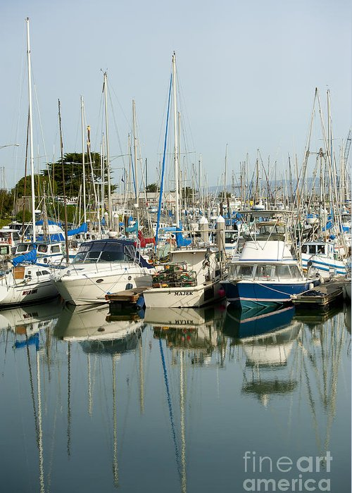 Moss Landing Harbor Greeting Card featuring the photograph Moss Landing Boat Harbor by Artist and Photographer Laura Wrede