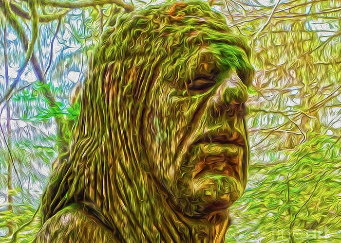 Moss Man Greeting Card featuring the photograph Moss Man - 02 by Gregory Dyer