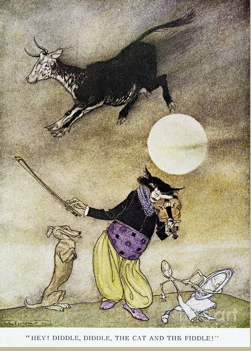1913 Greeting Card featuring the photograph Mother Goose, 1913 by Granger
