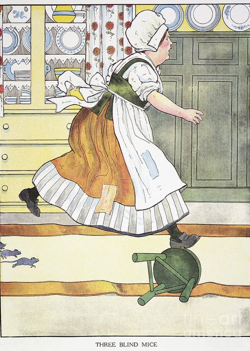 1916 Greeting Card featuring the photograph Mother Goose, 1916 by Granger