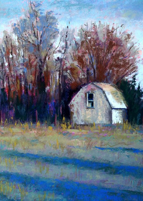 Arkansas Greeting Card featuring the pastel Mother's Back Yard by Sandra Ortega