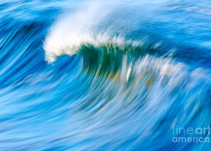 Wave Greeting Card featuring the photograph Motion Captured by Paul Topp