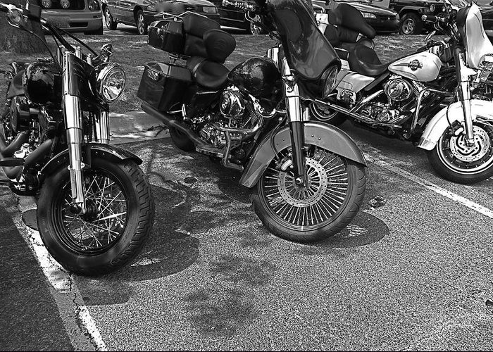 Motorcycles Greeting Card featuring the photograph Motorcycles by Rita Mueller