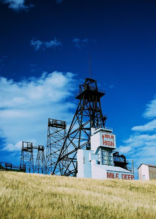 Mount Con Mine Greeting Card featuring the photograph Mount Con Mine 2 Butte Mt by Kevin Bone