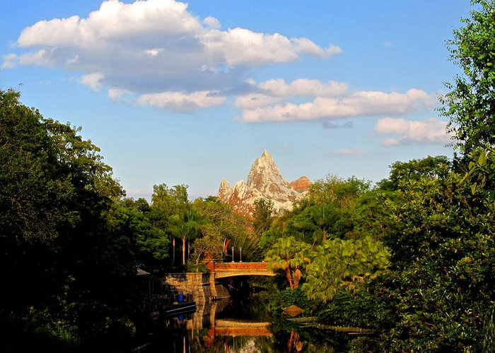Mount Everest Greeting Card featuring the photograph Mount Everest Wdw by Dana Doyle