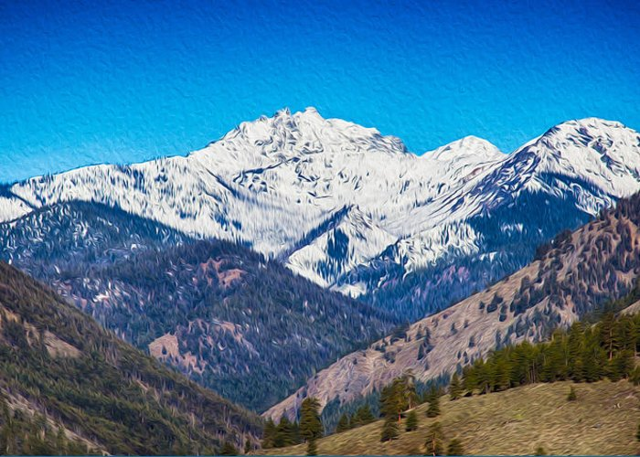 North Cascades Greeting Card featuring the photograph Mount Gardner Close Up by Omaste Witkowski