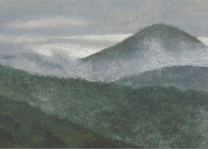Mount Judea Greeting Card featuring the painting Mount Judea by Garry McMichael