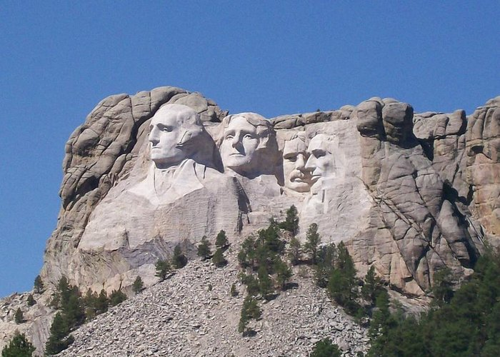 Mount Rushmore Greeting Card featuring the photograph Mount Rushmore by Joan Shiffler