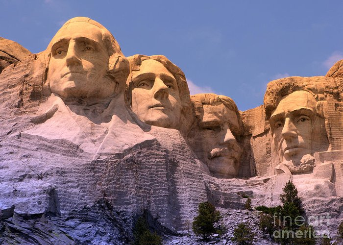 Mount Rushmore Greeting Card featuring the photograph Mount Rushmore by Olivier Le Queinec
