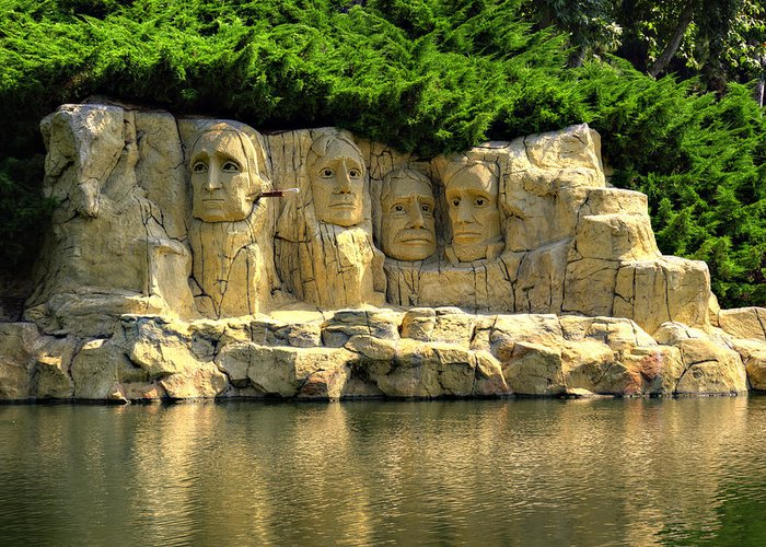 Mount Greeting Card featuring the photograph Mount Rushmore by Ricky Barnard