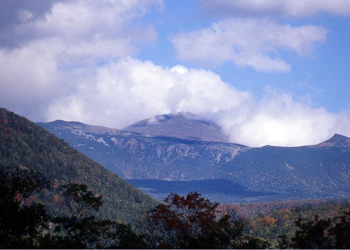 Mountain Greeting Card featuring the photograph Mount Washington by Skip Willits