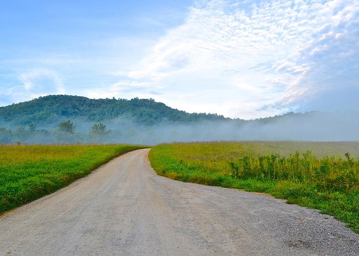 Smoky Greeting Card featuring the photograph Mountain Air by Frozen in Time Fine Art Photography