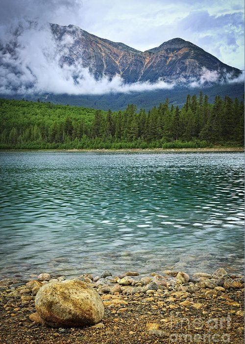 Lake Greeting Card featuring the photograph Mountain Lake by Elena Elisseeva