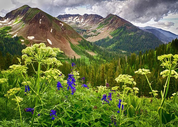 La Plata Mountains Greeting Card featuring the photograph Mountain Majesty by Priscilla Burgers