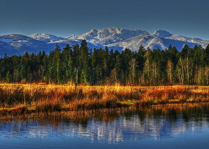 Landscape Greeting Card featuring the photograph Mountain Vista by Randy Hall