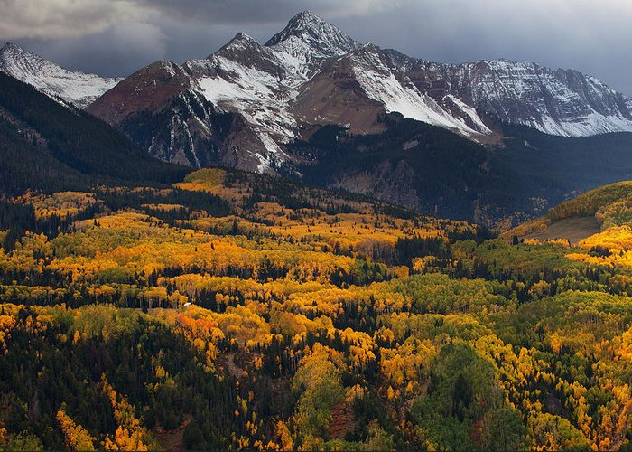 Colorado Landscapes Greeting Card featuring the photograph Mountainous Storm by Darren White