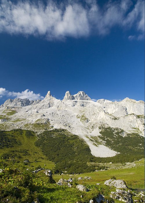 Mountain Greeting Card featuring the photograph Mountains In The Alps by Chevy Fleet