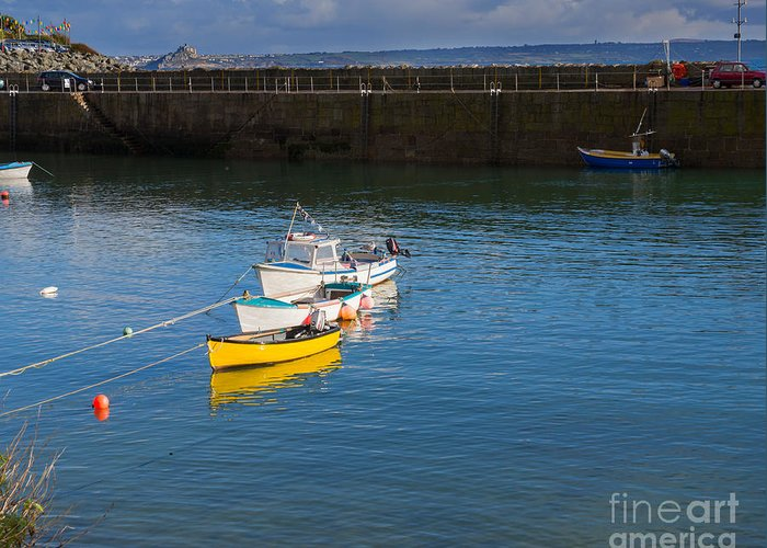 Mousehole Greeting Card featuring the photograph Mousehole Cornwall by Louise Heusinkveld