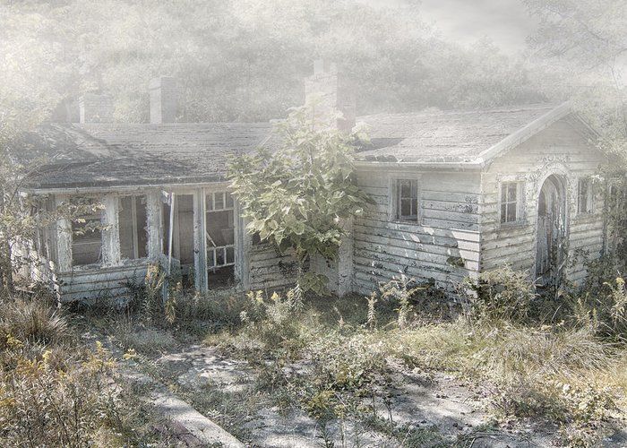 Abandoned House. Haunted House Greeting Card featuring the photograph Mr Crowley's by Mark Dottle